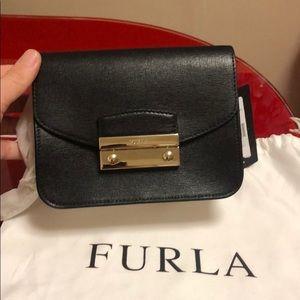 Furla Saffiano mini shoulder bag, new